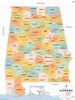 Alabama County Map, Alabama Counties