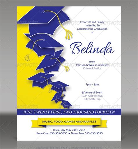 graduation invitation templates psd vector eps ai