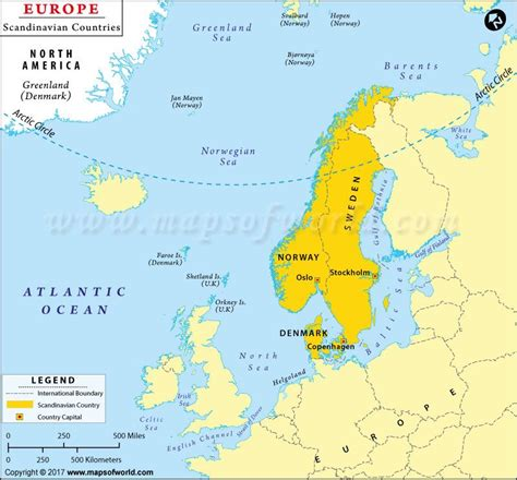 scandinavian countries map shows  countries