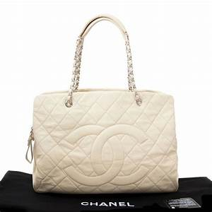 Chanel Beige Leather Grand Shopping Tote For Sale at 1stdibs