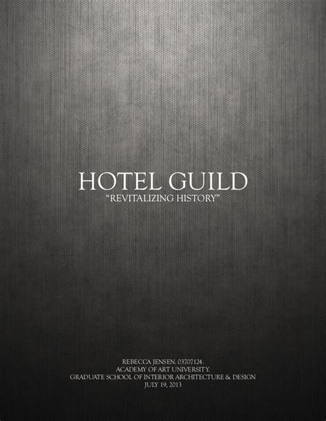 hotel design midpoint thesis book