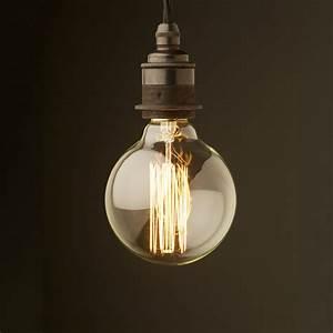 Edison style light bulb e bronze fitting