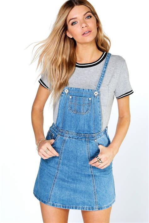 How to Wear A Denim Pinafore Dress u2013 Carey Fashion
