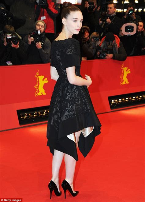 rooney mara  gothic  embroidered frock
