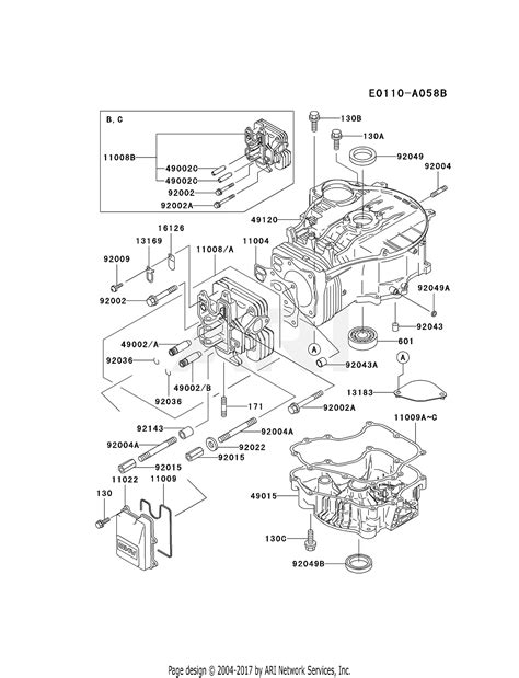 4 Engine Diagram by Kawasaki Fc420v Cs06 4 Stroke Engine Fc420v Parts Diagram