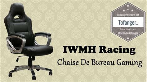 chaise bureau gaming iwmh racing chaise de bureau gaming top