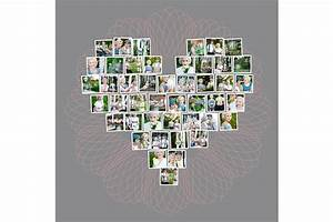 Collage Template Photoshop Heart Collage Template For Photoshop And Indesign Design