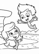 Bubble Guppies Pages Fun Coloring sketch template