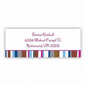 Cool stripes address lables return address labels for Cool mailing labels