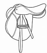 Saddle Horse Drawing Coloring Sketch Template Credit Larger sketch template