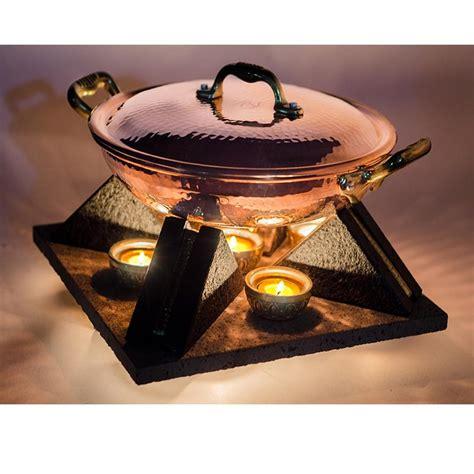 scaldavivande da tavola scaldavivande candeliere in pietra lavica con candele