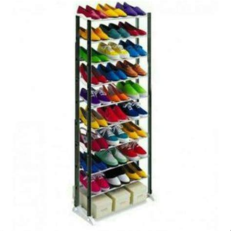 30 Model Rak Sepatu jual rak sepatu aluminium 10 susun 30 pasang sandal sepatu