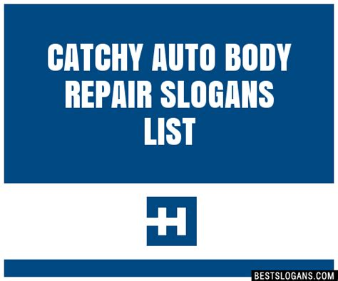 catchy auto body repair slogans list taglines