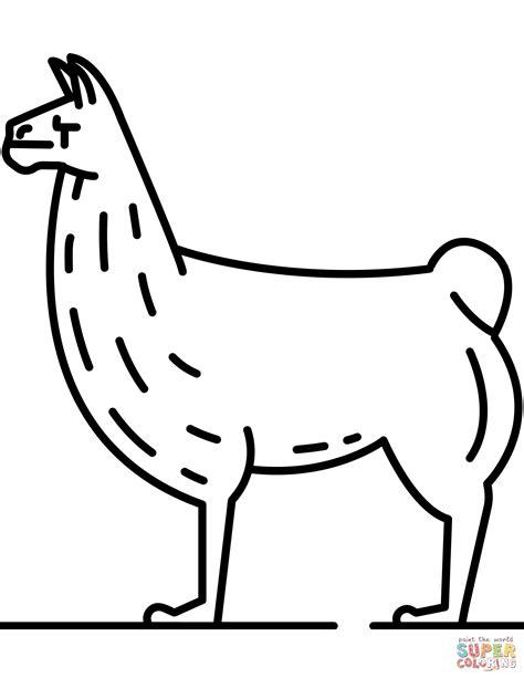 Hermosa Llama Para Colorear Friso Enmarcado Para