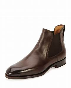 Handmade men brown leather boots, Men ankle high real ...