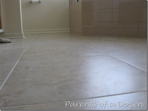 parents of a dozen how to prepare a floor for ceramic tile
