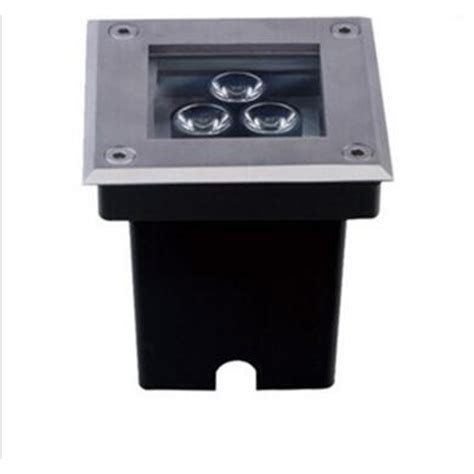 30pcs lot 3w ac85 265v led square inground buried light outdoor path light spot l warm