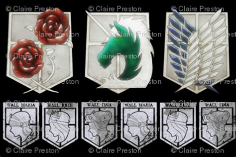 attack  titan military  wall crests black fabric