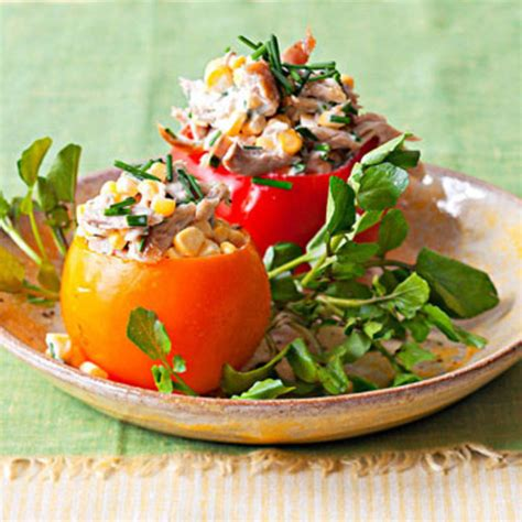 chicken salad stuffed tomatoes rachael ray  day