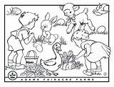 Easter Coloring Farms Adams sketch template