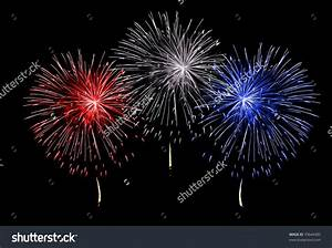 Red White Blue Fireworks Clipart (54+)