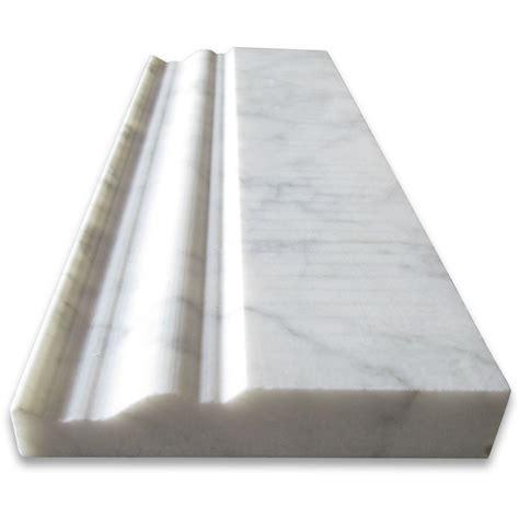 5x12 Italian Carrara White Baseboard Trim Molding Polished