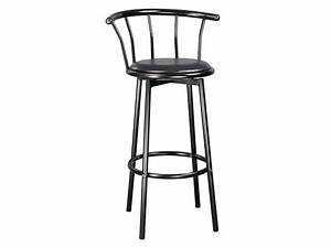 Tabouret De Bar Pivotant : tabouret de bar pivotant brice coloris noir vente de ~ Dailycaller-alerts.com Idées de Décoration