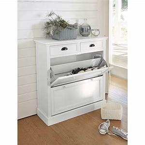 meuble entree newport With meuble d entree chaussures 2 meuble 224 chaussures blanc l 80 cm cottage maisons du monde