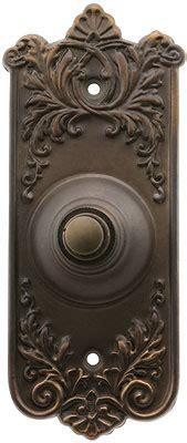 lorraine pattern doorbell button  oil rubbed bronze house  antique hardware