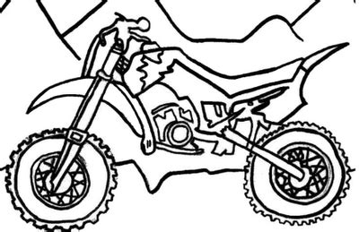 Desenhos Para Pintar: Desenhos de Motos para Colorir