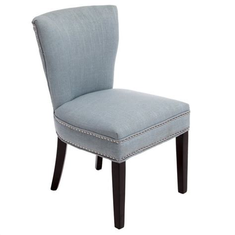 kitchen accent furniture trent home johnathan accent dining chair in ocean blue 614832cy