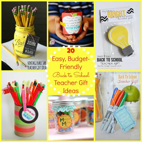 back to school gift ideas for the happy home 121   20 easy inexpensive and adorable teacher gift ideas for the first day of school lots of free printables1