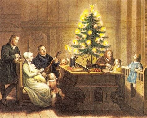 luthers christmas tree traditions origin and history of trees