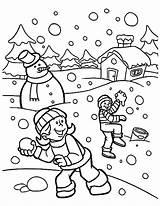 Coloring Snow Holidays Fight Coloringsky Malvorlagen Sheets Freigeben sketch template