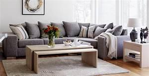 Canapé Angle Gris Chiné : canap gris moderne 55 mod les d angle ou droits fonc s ~ Teatrodelosmanantiales.com Idées de Décoration