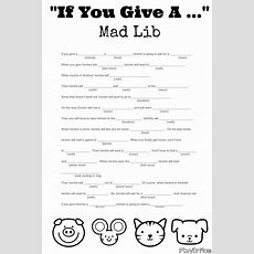 """""""if You Give A """" Mad Lib  Groundhog Day, Educational Games And Search"""