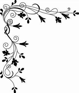 Flower Border Clipart Black And White | Clipart Panda ...