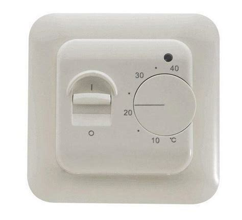 manual underfloor heating thermostat with floor sensor ebay