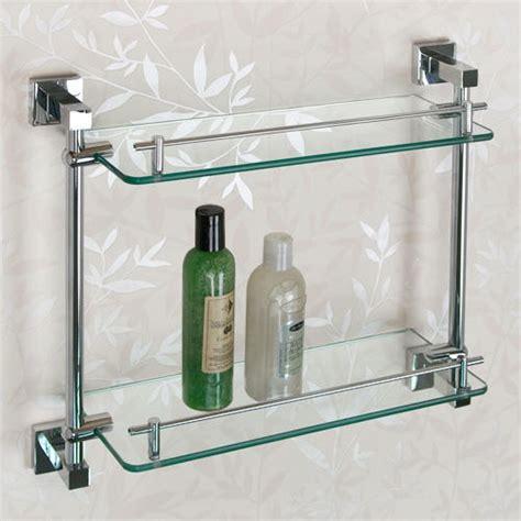 Albury Tempered Glass Shelf Two Shelves Bathroom