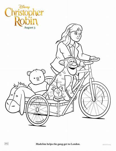 Robin Christopher Madeline Coloring Pages Disney Sheets