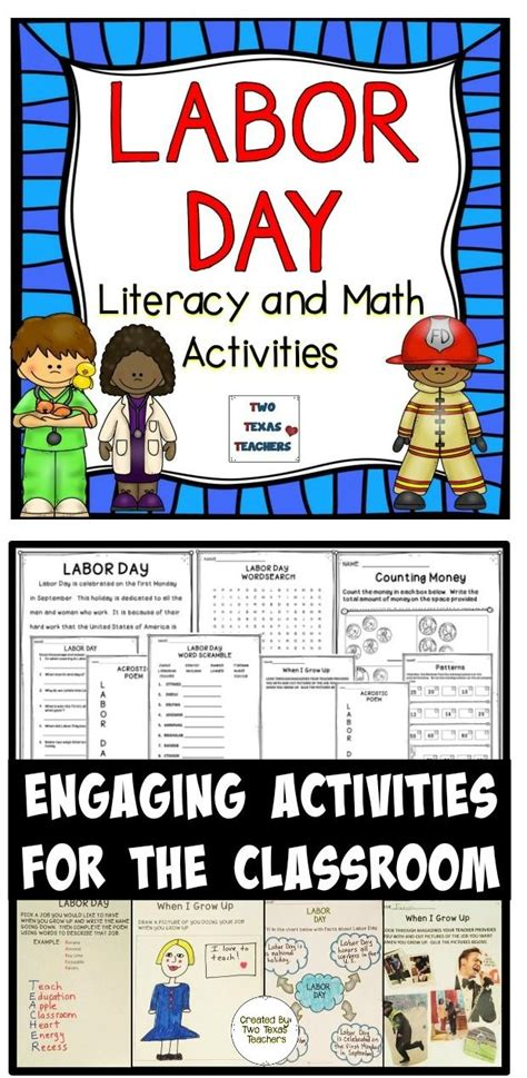 labor day   teachers classroom activities teaching