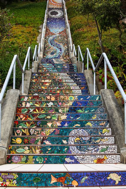 16th avenue tiled steps san francisco ca california