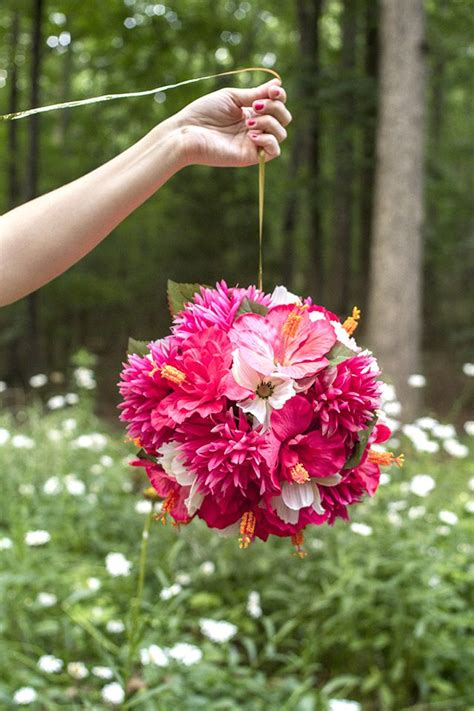how to make hanging flower balls with pictures ehow