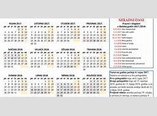 Prva Katolička Osnovna Škola Kalendar za školsku godinu