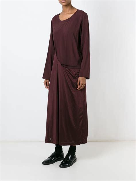 comme des gar 231 ons robe de chambre dress in purple lyst