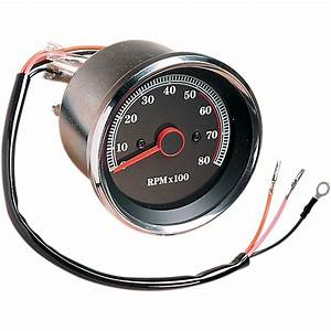 Drag Specialties Electronic 8000 Rpm Tachometer