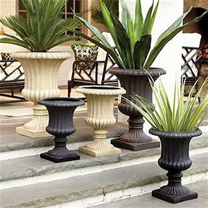 Extra Grecian Urn Traditional Outdoor Pots And