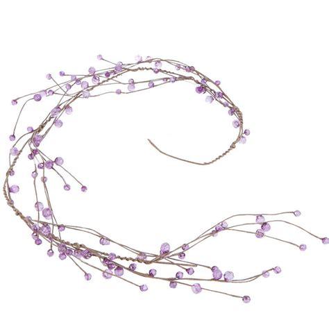 purple beaded garland purple acrylic beaded twig garland garlands floral supplies craft supplies