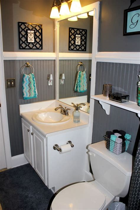gray and blue bathroom guest bathroom bathroom decor