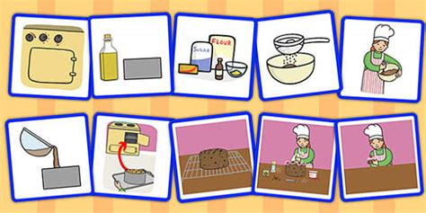 step sequencing cards making  cake sequencing cards